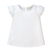 Knit Top with Woven Flutter Sleeves - Hope & Henry Girl
