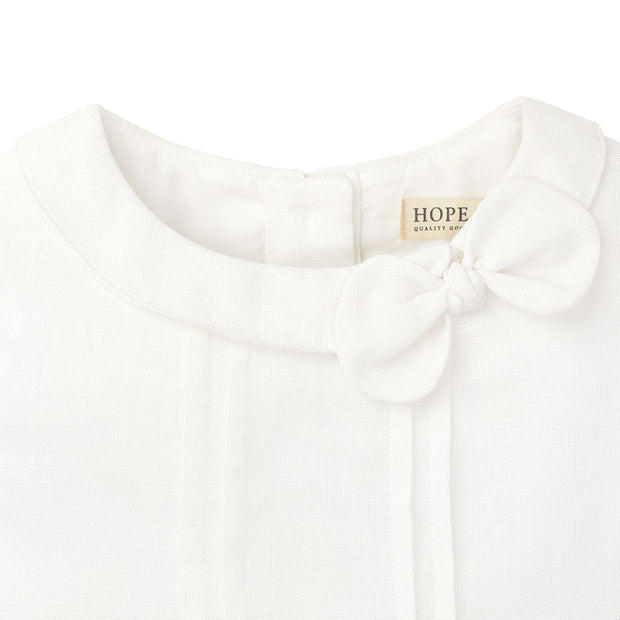 Knot Bow Top in Organic Cotton - Hope & Henry Girl