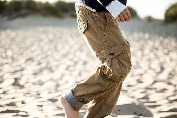 Lined Pull-On Cargo Pants - Hope & Henry Boy