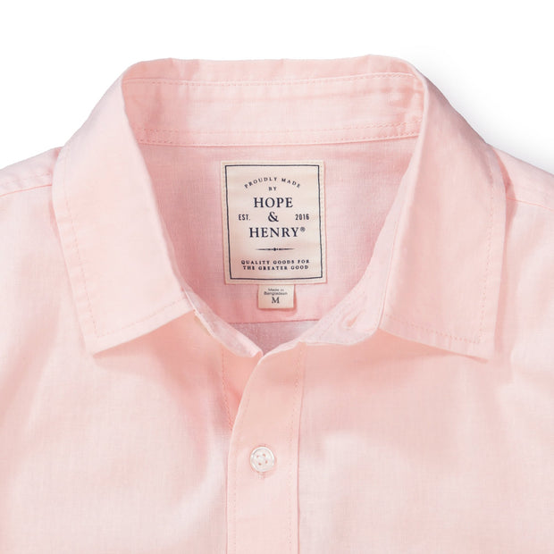 Linen Button Down Shirt - Hope & Henry Men