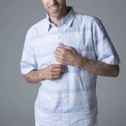 Linen Short Sleeve Button Down Shirt-Button Down Shirts-Hope & Henry