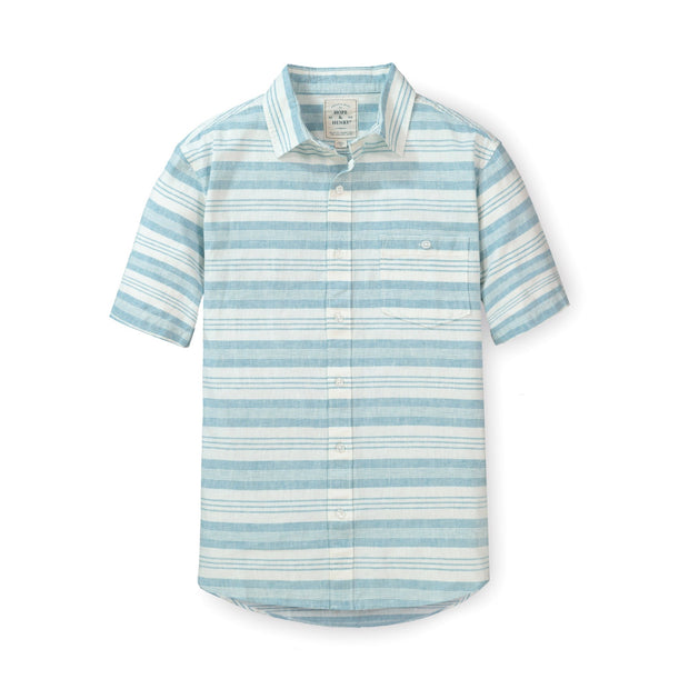 Linen Short Sleeve Button Down Shirt - Hope & Henry