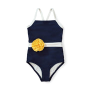 One-Piece Swimsuit with Rosette - Hope & Henry Girl