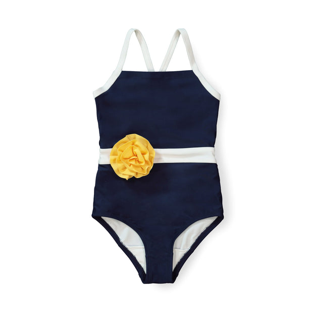 One-Piece Swimsuit with Rosette - Hope & Henry
