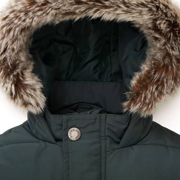 Hope /& Henry Boys Parka Puffer Coat with Faux Fur Trim Hood