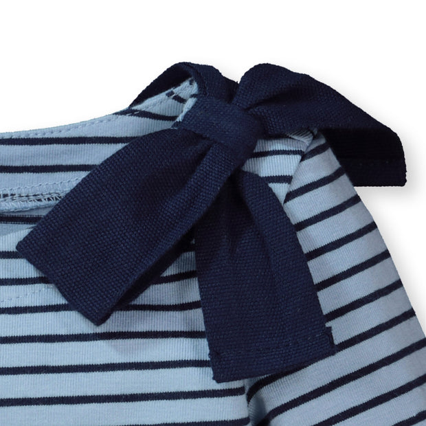 Hope /& Henry Girls 3//4 Sleeve Peplum Knit Top with Bow Detail