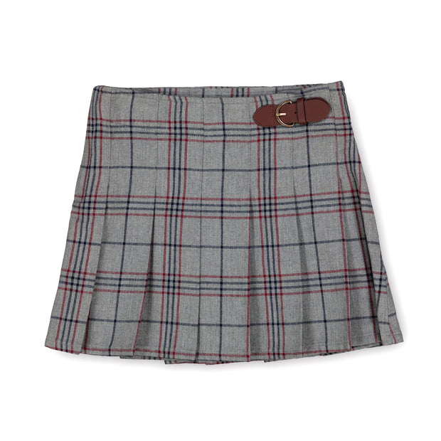 Pleated Skirt with Buckle Detail-Skirts-Hope & Henry