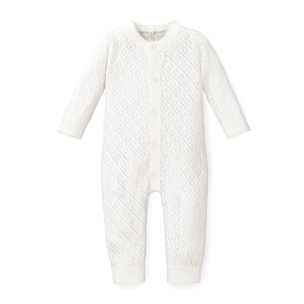 Pointelle Sweater Romper - Hope & Henry Baby