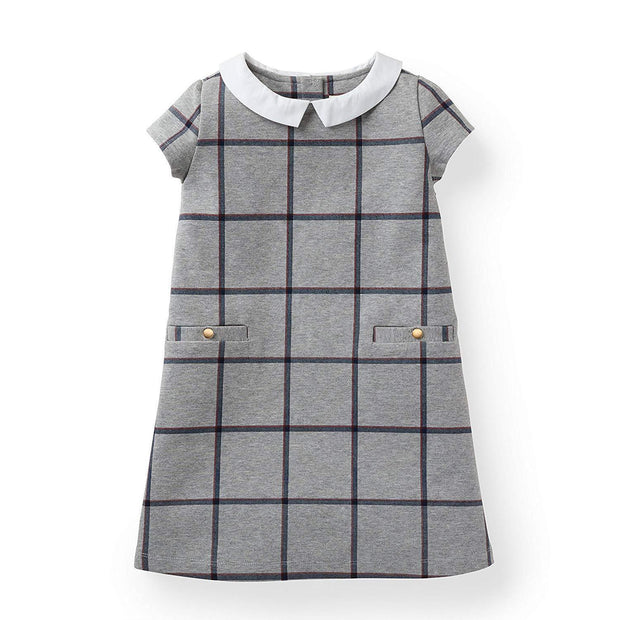 Ponte Dress with Woven Collar - Hope & Henry Girl