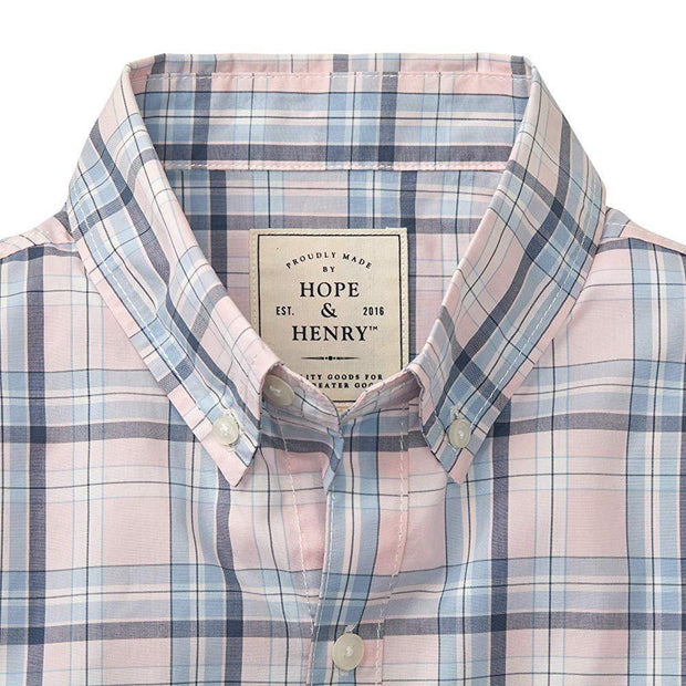 Poplin Button Down Shirt - Hope & Henry Men