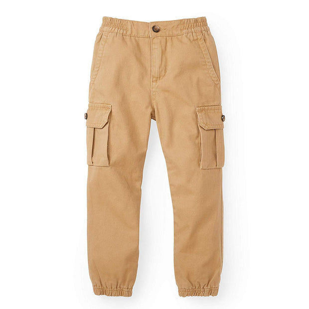 Pull-On Lined Cargo Jogger - Hope & Henry Boy