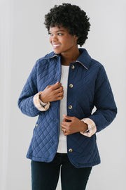 Quilted Riding Coat - Hope & Henry Women