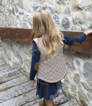 Quilted Riding Vest - Hope & Henry Girl