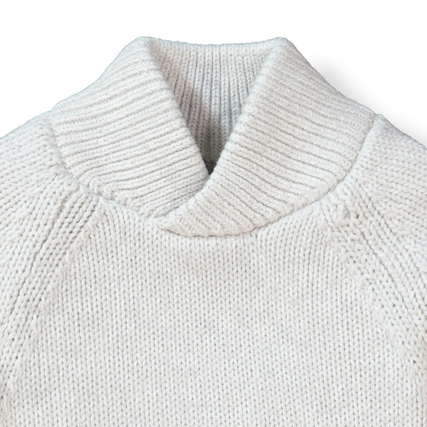 Raglan Sweater with Crossed Collar - Hope & Henry Boy