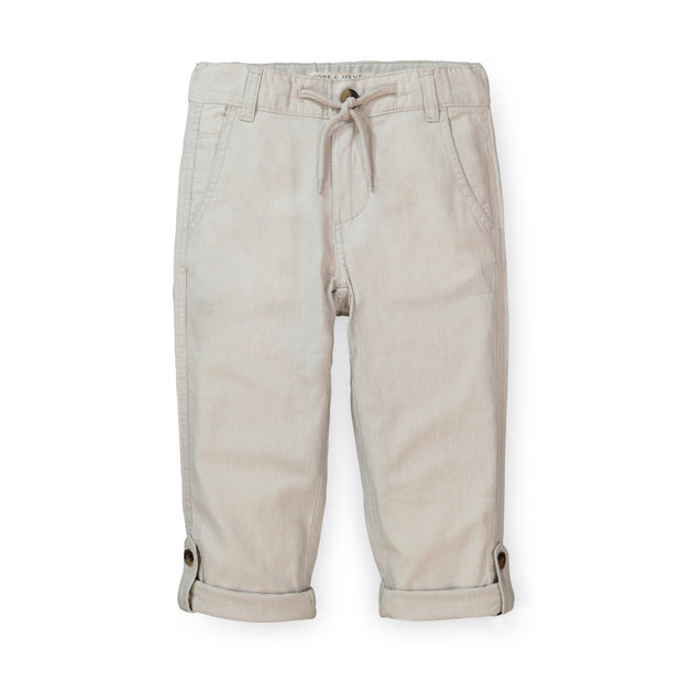 Relaxed Linen Roll-Up Pant - Hope & Henry