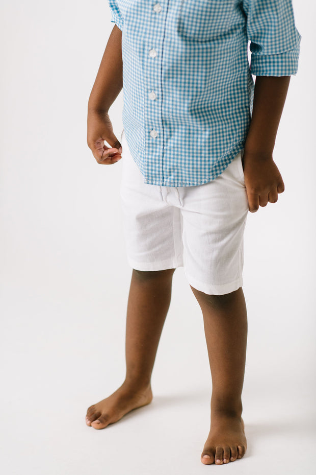 Relaxed Linen Short - Hope & Henry Boy