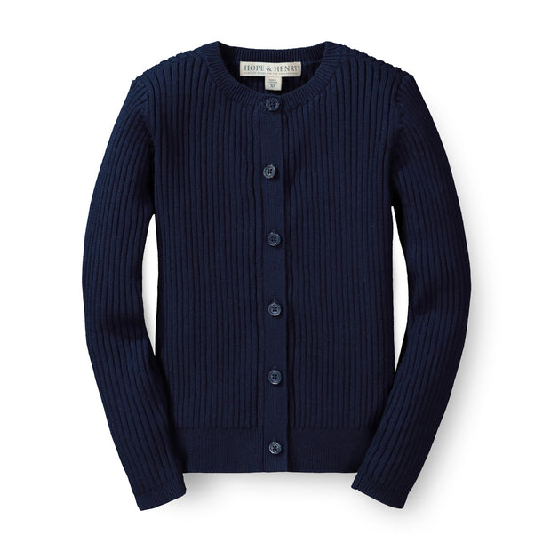 Rib Knit Cardigan - Hope & Henry Girl