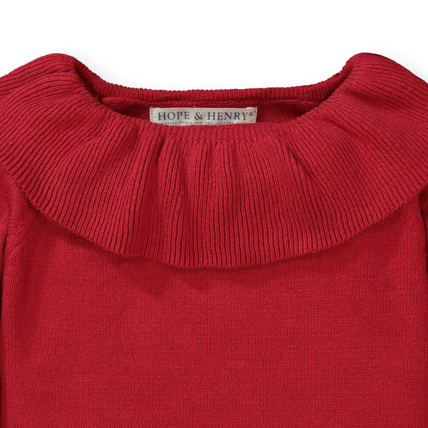 Ruffle Collar Sweater - Hope & Henry Girl