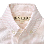 Seersucker Button Down Shirt - Hope & Henry Boy