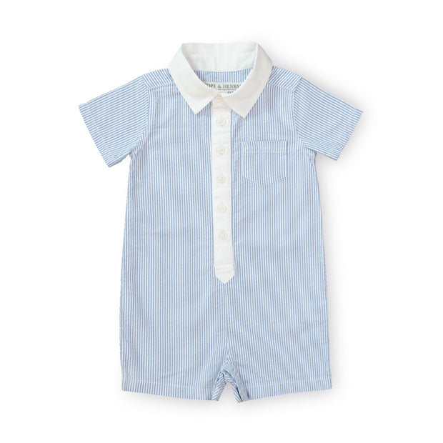 Seersucker Button Front Romper - Hope & Henry