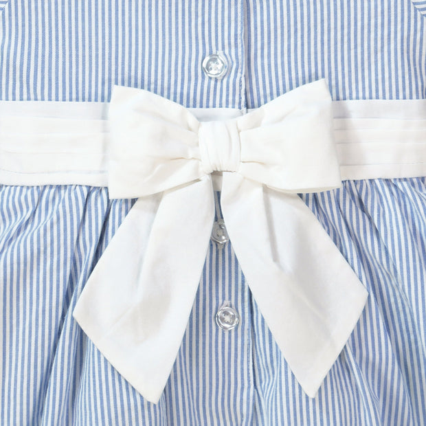 Seersucker Peter Pan Collar Dress - Hope & Henry Baby