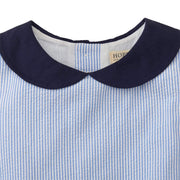 Seersucker Peter Pan Collar Dress - Hope & Henry