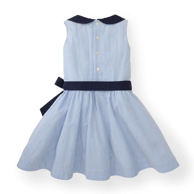 Seersucker Peter Pan Collar Dress - Hope & Henry Girl