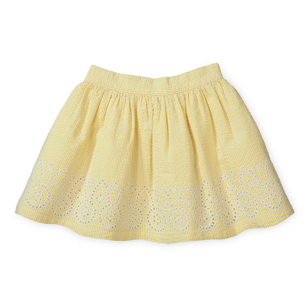Seersucker Skirt with Embroidery - Hope & Henry Girl