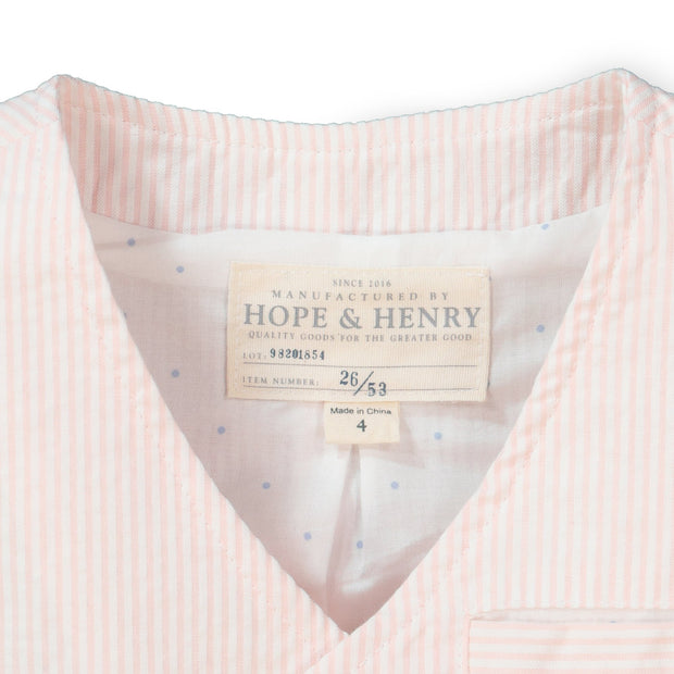 Seersucker Suit Vest - Hope & Henry Boy