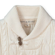 Shawl Collar Cable Sweater - Hope & Henry Boy