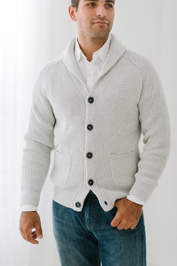 Shawl Collar Cardigan - Hope & Henry Men