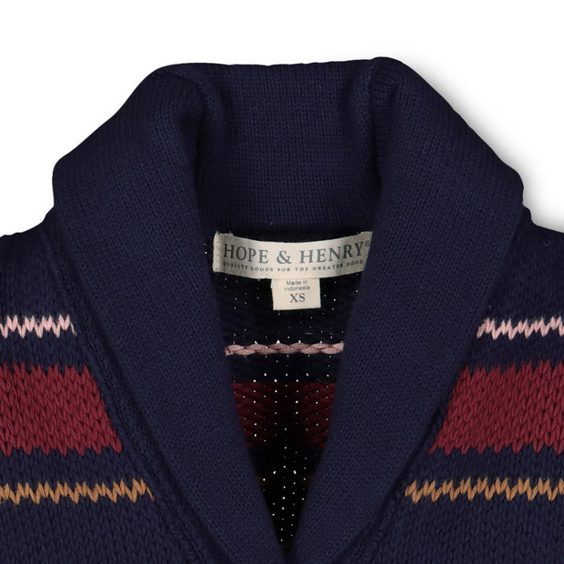Shawl Collar Cardigan with Waist Tie - Hope & Henry Girl