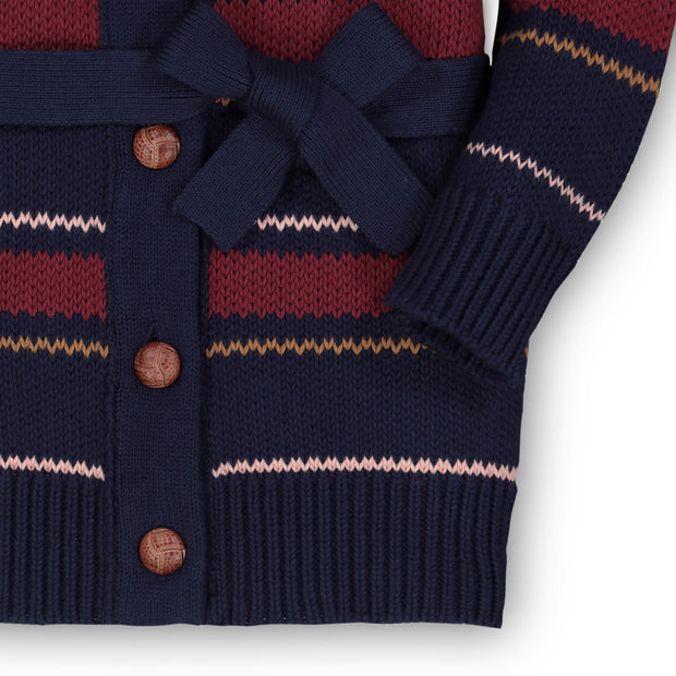 Shawl Collar Cardigan with Waist Tie-Sweaters-Hope & Henry