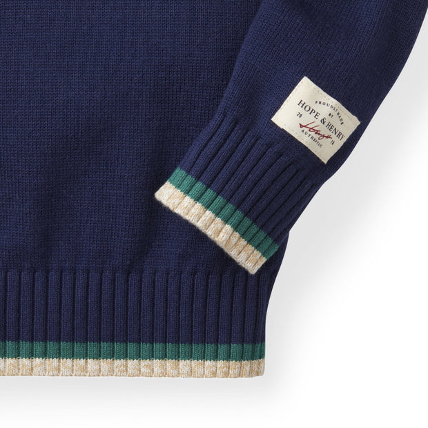 Shawl Collar Sweater | Navy - Hope & Henry
