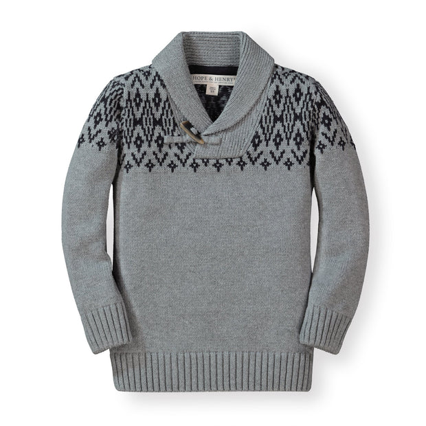 Shawl Collar Sweater - Hope & Henry Boy