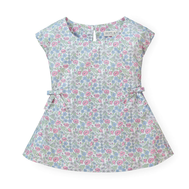Shirred Top with Bows - Hope & Henry Girl