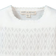 Short Sleeve Drop Waist Sweater Dress - Hope & Henry Girl