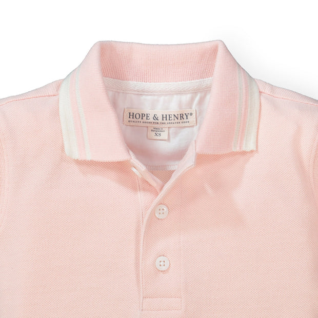 Short Sleeve Pique Polo - Hope & Henry Boy