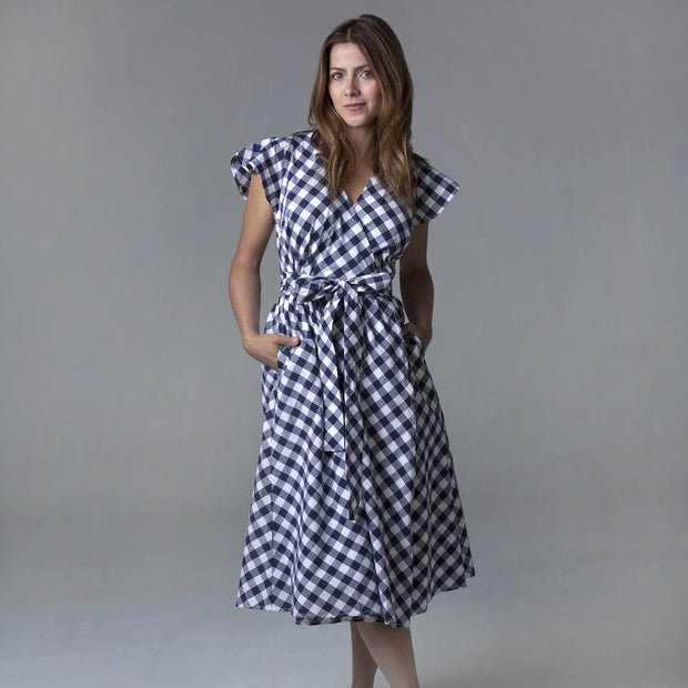Short Sleeve Wrap Dress-Dresses-Hope & Henry