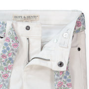 Skinny Stretch Denim with Fabric Belt - Hope & Henry Girl