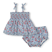 Smocked Swing Tank and Ruffle Bloomer Set - Hope & Henry Baby