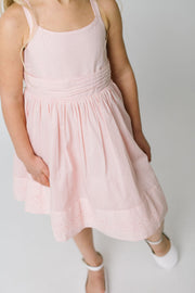 Special Sun Dress with Embroidered Hem - Hope & Henry Girl