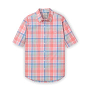 Stretch Poplin Short Sleeve Button Down Shirt - Hope & Henry Men