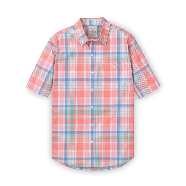 Stretch Poplin Short Sleeve Button Down Shirt - Hope & Henry