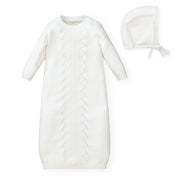 Sweater Gown and Bonnet Set - Hope & Henry Baby