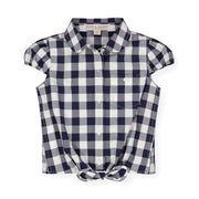 Tie-Front Button Down Top - Hope & Henry