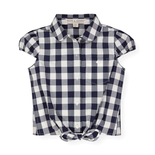 Tie-Front Button Down Top - Hope & Henry Girl