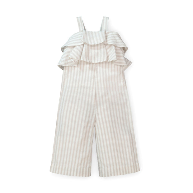 Tiered Ruffle Wide Leg Jumpsuit - Hope & Henry Girl