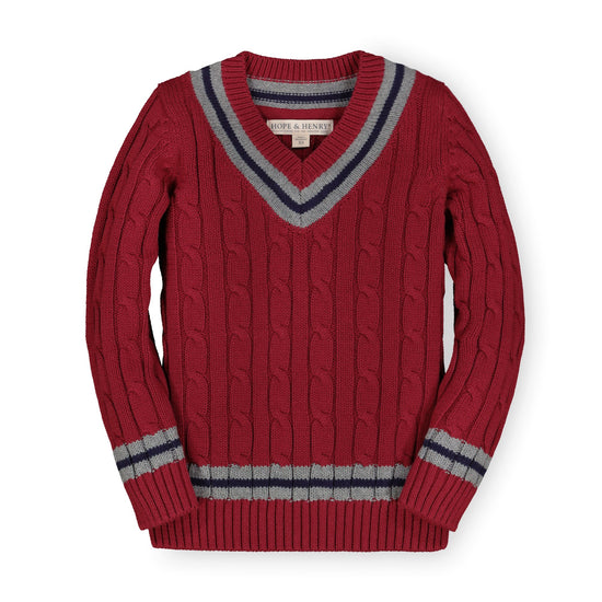 V-Neck Cricket Sweater-Sweaters-Hope & Henry
