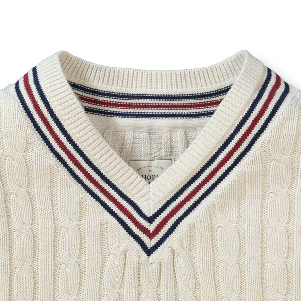 V-Neck Cricket Sweater - Hope & Henry